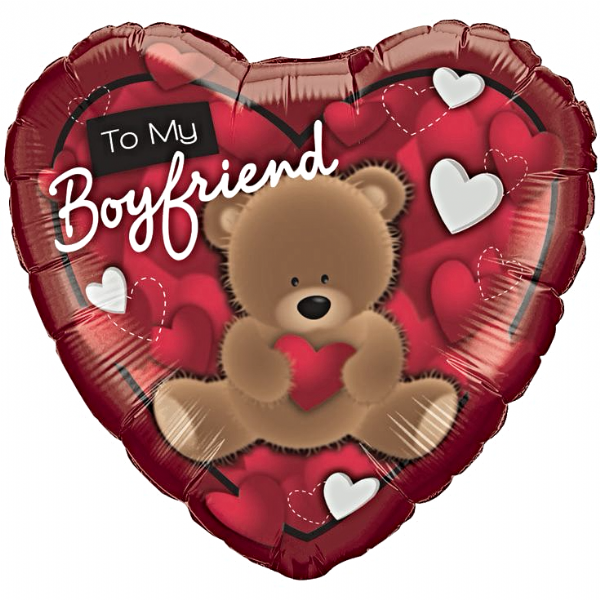 To My Boyfriend Foil Balloon